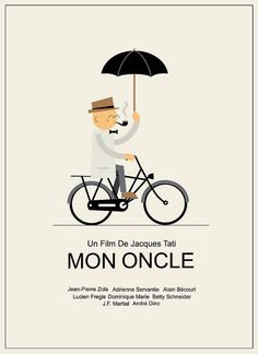 Poster design for the french film 'Mon Oncle' for the Silver Screen Society project. from Ryan Chapman Flickr. #poster #illustration