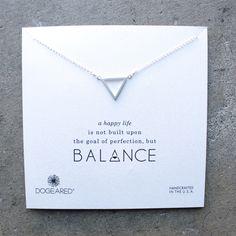 dogeared - minimalist balance open triangle necklace