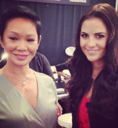 Lovely Rachel Parcell with TRES lead stylist, Jeanie Syfu, backstage at Nanette Lepore! #TRESmbfw #mbfw