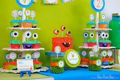 Little Monster Birthday Party  Package Personalized MINI Collection Set - PRINTABLE DIY - BX25y