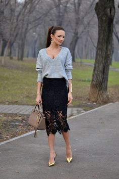 My Silk Fairytale: The Perfect Lace Skirt
