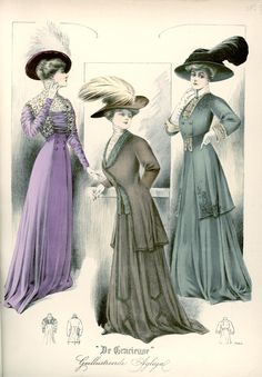 [De Gracieuse] Elegante visite-toiletten (April 1908)
