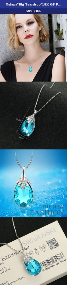 """Osiana""""Big Teardrop""""18K GP Pendant Necklace Made With Swarovski Crystal 18""""Aqua. Osianastyle specialize in fashion jewellery and creates elegant jewellery out of Silver,Stone,Alloy. About Customer Service We always have an eye to good customer service as we receive orders, and continue to create new ideas. If you have any question about order and product,pls send us message.We will reply your message within 24 HOURS.(Saturday is our Holiday). We are more than happy to help you and to..."""