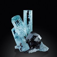 Aquamarine & Schorl Tourmaline -- Erongo Mountains, Namibia