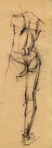 A teaching drawing by Michael Cadman