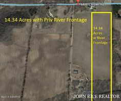 WOW! 14.34 Acres with frontage on Little Thornapple River. Wonderful mix of open land surrounded by woods and wooded areas with slight slope to the 300+/- ft of private river frontage. This parcel offers a wide area for building with plenty of room for outbuildings and more.
