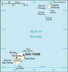 Sao Tome and Principe Road Map   São Tomé e Principé   Pinterest