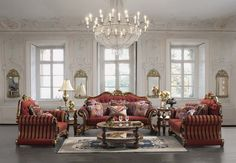 Luxury Upholstered Formal Living Room Furniture Traditional Sofa, Love Seat Homey Design HD-257