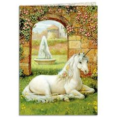 http://www.efairies.com/store/pc/Unicorn-Garden-Blank-Greeting-Card-21p7822.htm Price $2.95
