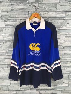 586fffb0e93 CANTERBURY Of New Zealand Rugby Shirt Mens Large Steinlager Jonah Lomu Canterbury  All Blacks Ugly Shirt CCC Polo Shirt Rugby Football Size L