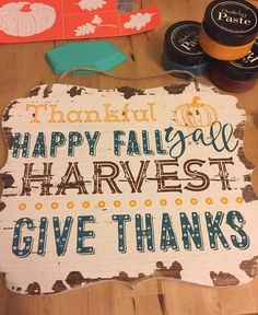 Chalk Couture - Fun use of the Fall Words {Chalk Transfer} for the season. (via Kaleigh Rider) #chalkcouture