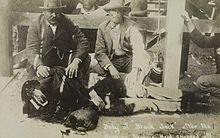 Black Jack Ketchum after hanging, April 26, 1901, Clayton, New Mexico. Decapitated.