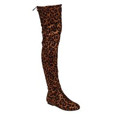NATURE BREEZE FD72 Womens Stretchy Thigh High Flat Heel Boot Half Size Small >>> See this great product. (This is an Amazon affiliate link)