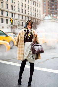 Miroslava Duma on #fur !  #fashion is a fall in love with this blogger