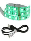 LED Light Strip Mego Multi-couleur RGB 200cm Téléviseur à écran plat Light Kit Waterproof LED Ordinateur Portable Backlight Cuttable Avec Câble USB 60 LED (RGB 200cm)