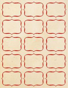 des étiquettes de différents designs, proposées avec fond vintage (exemple) ou blanc (plus économique en encre)