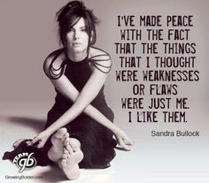 Wise words by Sandra Bullock. Now that I am in my I am grateful for the wisdom that I have attained to be able to be at peace with who I am. Girl Quotes, Me Quotes, Motivational Quotes, Inspirational Quotes, Star Quotes, Famous Quotes, Daily Quotes, Sandra Bullock, Great Quotes