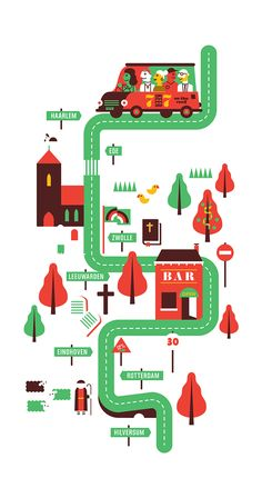 ON THE ROAD by Wijtze Valkema, via Behance