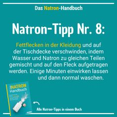 Das Natron-Handbuch Soda tip # 8 – the white powder also helps with grease stains on clothing, tablecloths and other textiles Flower Drawing Images, Grease Stains, Print Wallpaper, Word Families, Natural Cleaning Products, Textiles, Woodworking Crafts, Good To Know, About Me Blog
