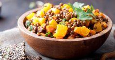 Recette de Poêlée de lentilles anti-constipation aux carottes et curry. Facile et rapide à réaliser, goûteuse et diététique.