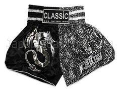 Blitz child kid size Muay Thai Boxing Fight Shorts Black sm karate kickboxing k1