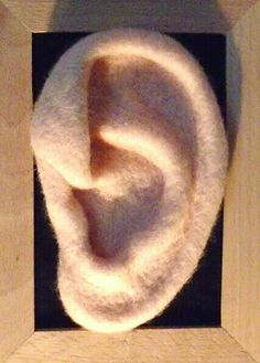 Wools have ears - needle felted ear S Shaw
