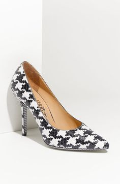 Houndstooth Printed Genuine Python Pump - Lyst