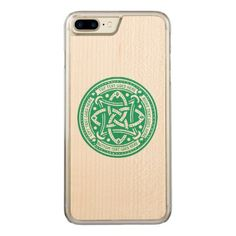 Create Your Own Celtic Knot Shamrock Green Irish Carved iPhone 8 Plus/7 Plus Case - traditional gift idea diy unique