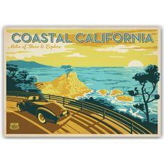 East Urban Home Coastal California Vintage Advertisement & Reviews | Wayfair
