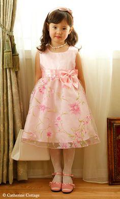 商品番号: CC0315 子どもドレス子供ドレス 柄プリントのオーガンジードレス 100-130cm CC0315