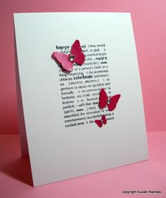 These style of stamps make me happy. #butterflies #punch #bling