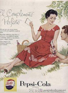 PUBLICIDAD ANUNCIO REFRESCO PEPSI COLA PEPSICOLA AÑO 1956