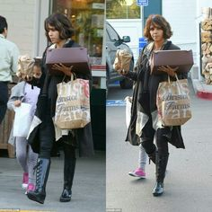 Halle Berry and her daughter Nahla Aubry spotted in L.A. 1/12