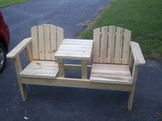 Outside chairs with side table combination