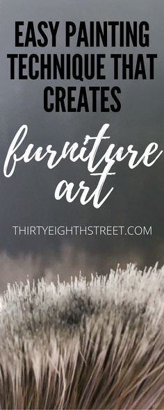Furniture Painting Technique That Makes Your Furniture Look Like ART! Vertical Dry Brushing With Paint. Dry Brushing Paint Onto Your Furniture. Black and White Painted Desk. Black Painted Furniture, Chalk Paint Furniture, Diy Furniture Projects, Art Furniture, Repurposed Furniture, Furniture Making, Furniture Makeover, Unique Furniture, Furniture Refinishing