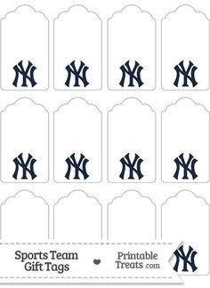 New York Yankees Gift Tags from PrintableTreats.com