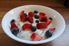 This is my easy, tasty, overnight oats bircher muesli recipe. It's low in calories and fat but high in fibre. One of the first recipes I published on my blog, so the photo's are better nowadays! But it's still the same popular recipe!