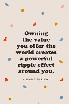 Do you undervalue your gifts and talents as an artist? Listen — owning the value you offer the world creates a powerful ripple effect around you. If you want to make better art, earn more and feel more confident about your art, watch this video now. Words Quotes, Wise Words, Me Quotes, Motivational Quotes, Inspirational Quotes, Mantra, Boss Babe, Helping Others, Beautiful Words