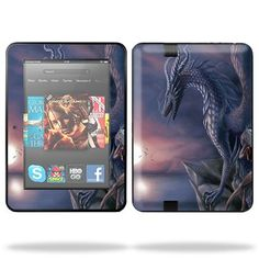 Protective Skin Decal Cover for Amazon Kindle Fire HD 7″ inch Tablet Sticker Skins Dragon Fantasy      Mightyskins are removable vinyl skins for protecting and customizing your portable devices. They feature ultra high resolution designs, the perfect way to add some style