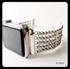 The Apple Watch is great, but the bands available clash with formal wear. Not anymore, PyXY to the rescue. Made with genuine Swarovski pearl beads, which