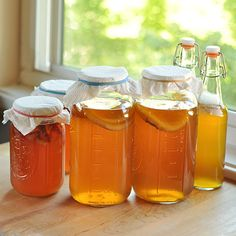 How To Make Kombucha Tea at Home Cooking Lessons from The Kitchn Kombucha Fermentation, Fermenting Jars, Kombucha Scoby, Kombucha Drink, Kombucha Brewing, Make Your Own Kombucha, Making Kombucha, Thing 1, Fermented Foods