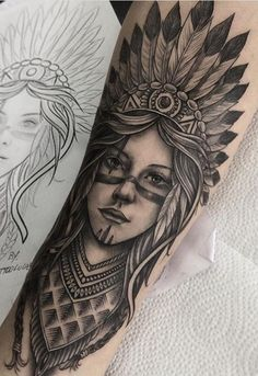Rib Tattoos For Guys, Leg Tattoo Men, Sleeve Tattoos For Women, Indian Girl Tattoos, Indian Skull Tattoos, Forarm Tattoos, Leg Tattoos, Skull Tattoo Design, Tattoo Designs