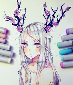 images for anime art Copic Marker Art, Copic Art, Copic Markers, Art Manga, Anime Art, Pretty Art, Cute Art, Character Art, Character Design