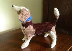 """This is the Beagle I knit from """"knit Your Own Dog: The Second Litter""""."""