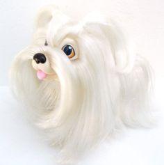 Hasbro Sweetie Pups Maltese Dog  1980s Toy Puppy.