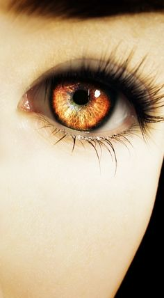 Zyla's eyes are one of her most defining features with their light amber coloring and piercing stare.