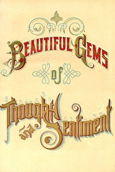 Beautiful Gems of Thought & Sentiment ☆ (Vintage book)