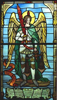 Saint Michael the Archangel: led the armies of God to defeat Satan during the war in heaven. Seen as a healing angel and a protector, as well as a military leader.