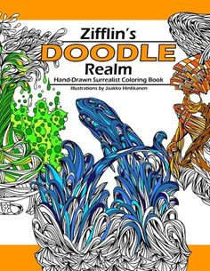 Doodle Realm Zifflins Coloring Book By Zifflin