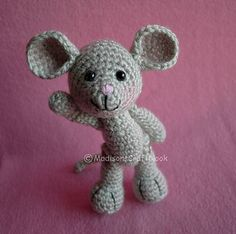 Morris the Mouse by Janice Cyr ~ FREE download on her Ravelry site - CROCHET ~ he's a cutie!  I want one!